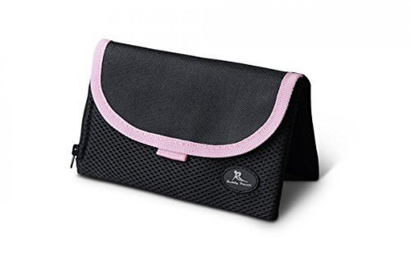 it comes in all black or black with pink trim