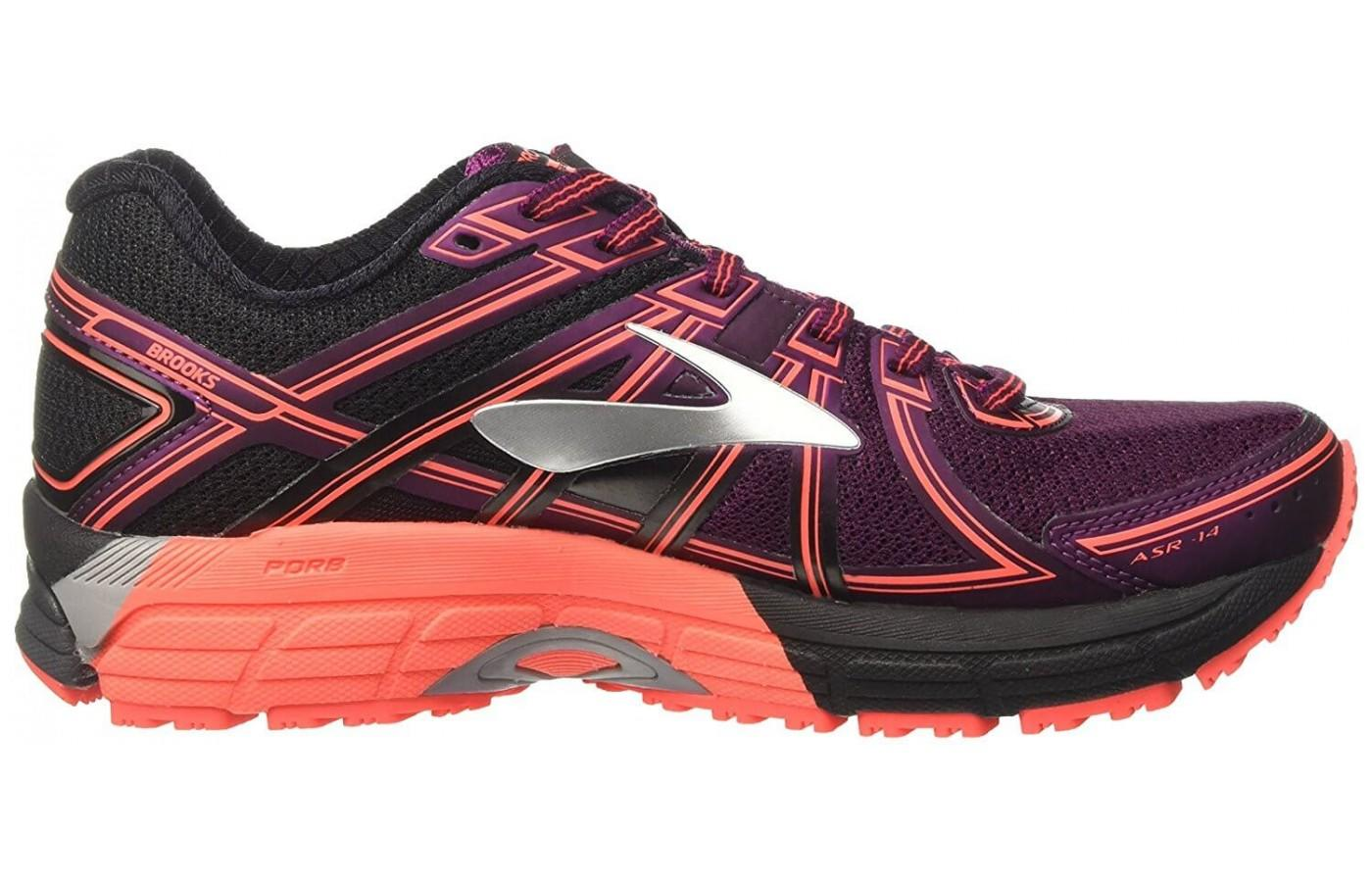 here's a look at the profile of the Brooks Adrenaline ASR 14