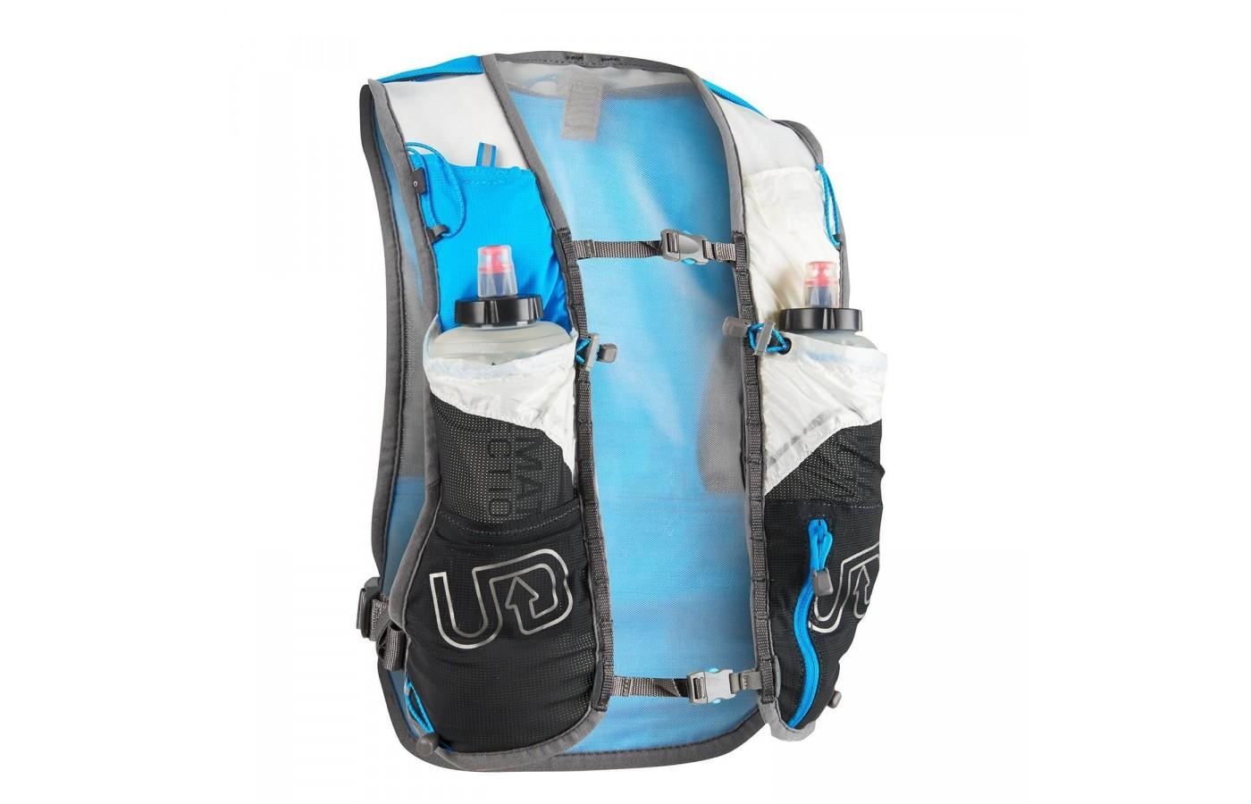 the Ultimate Direction SJ Ultra Vest 3.0 is incredibly lightweight and highly breathable