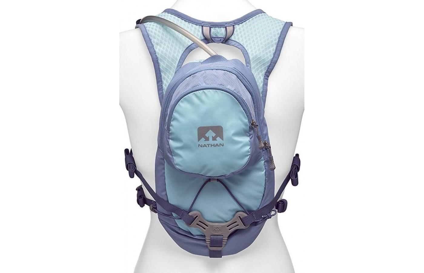 The nathan hydration vest holds 2 liter of fluid.