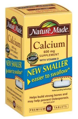11.  Nature Made Calcium 600 mg with Vitamin D Tabs, 60 ct