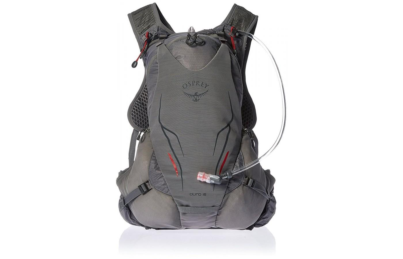 The Osprey Duro 15 features a separate hydration sleeve that fits a 2.5L reservoir (included)