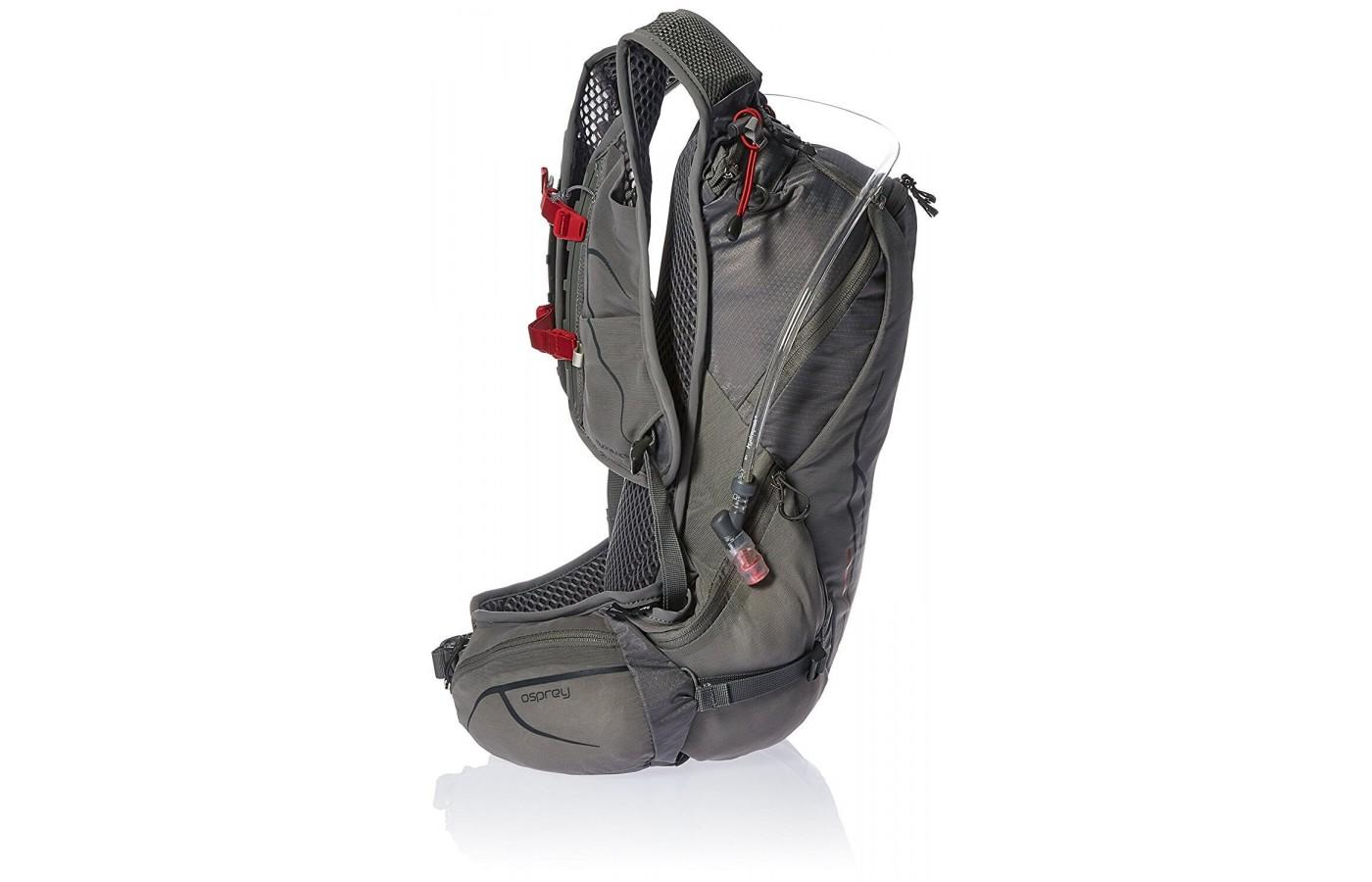 The Osprey Duro 15 is a vest-style pack with easy to reach front pockets
