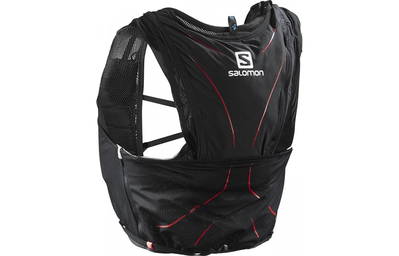 The Salomon Adv Skin 12 Set is not a backpack as much as it a wearable carrying solution.