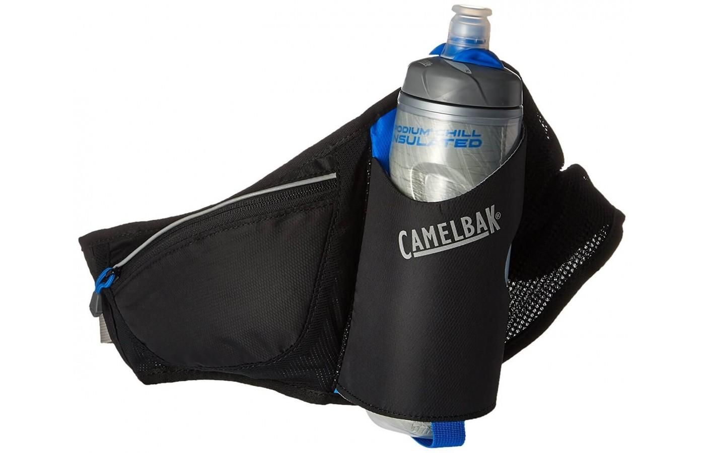 The Camelbak hydration belt comes with its own Podium Chill water bottle