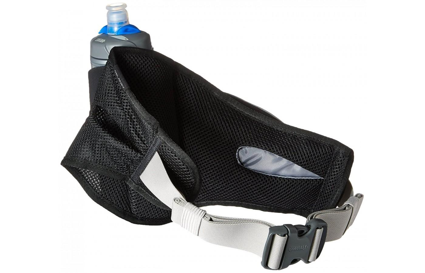 It features a unisex design and adjustable straps to provide a customizable fit