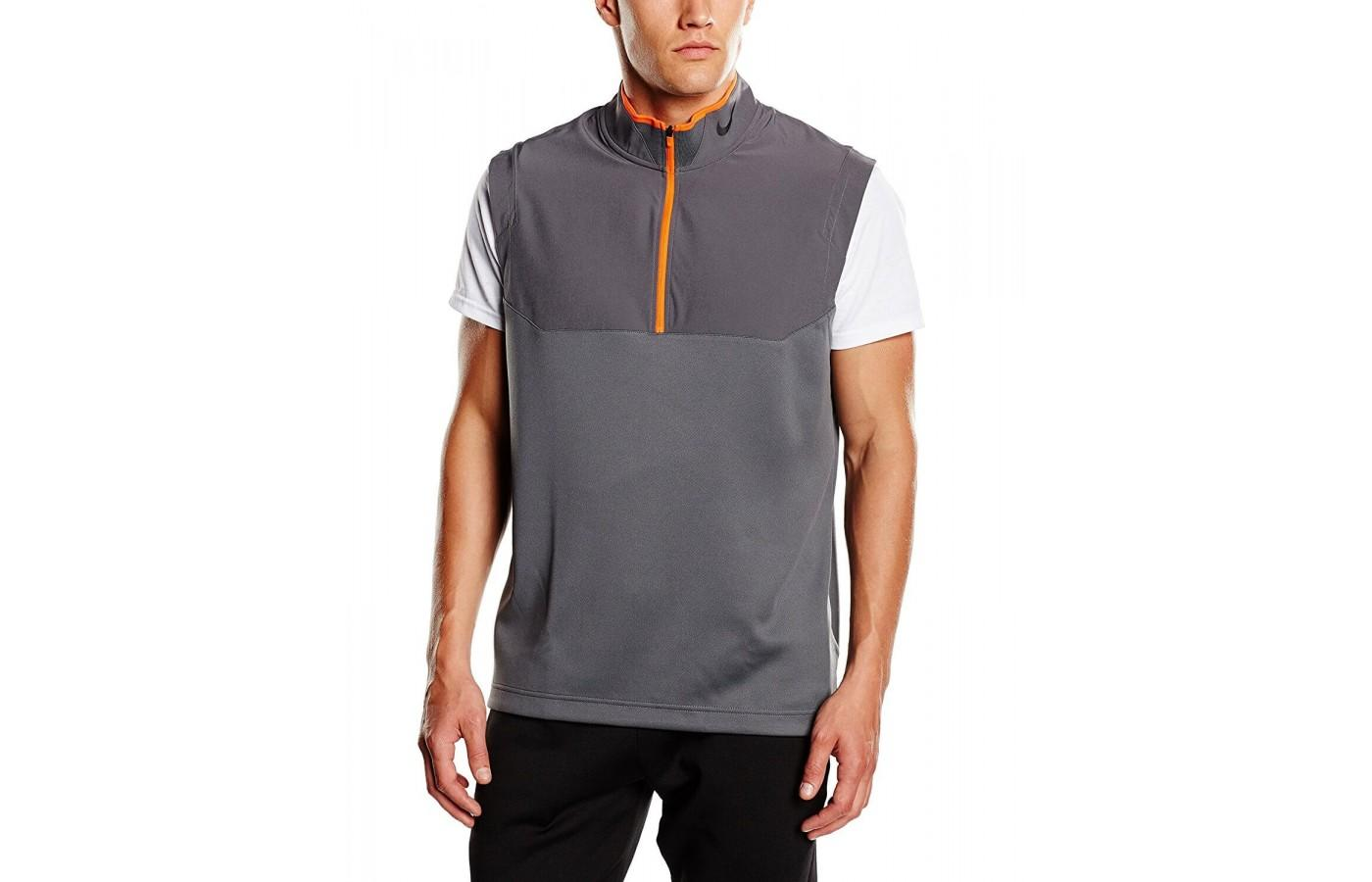 Nike Dri Fit 1/2 zippered vest is a stylish addition to your athletic clothing.