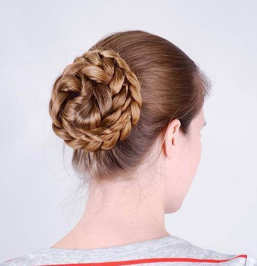 Image result for braided ponytail buns
