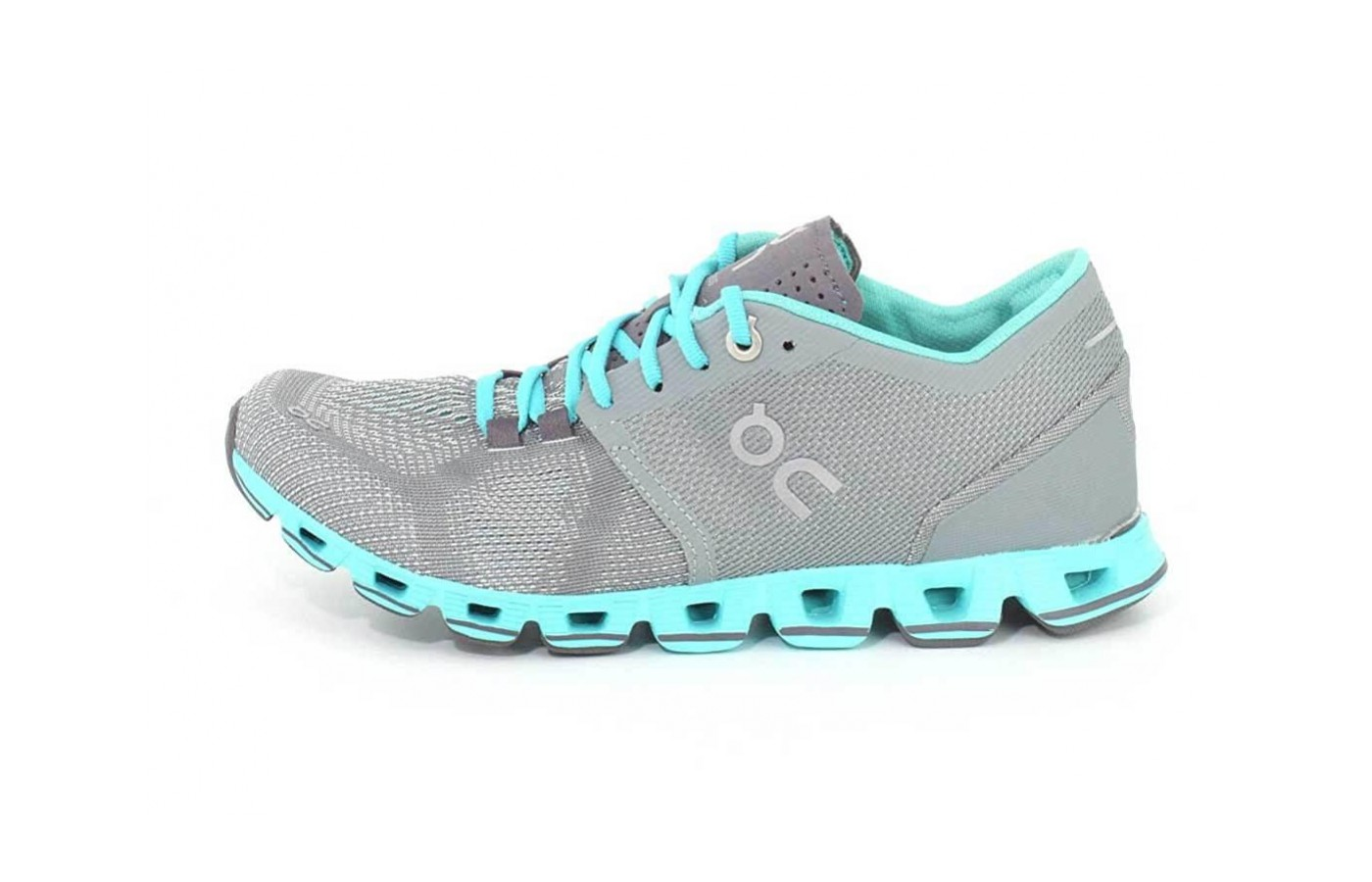 The On Cloud X features a CloudTec outsole
