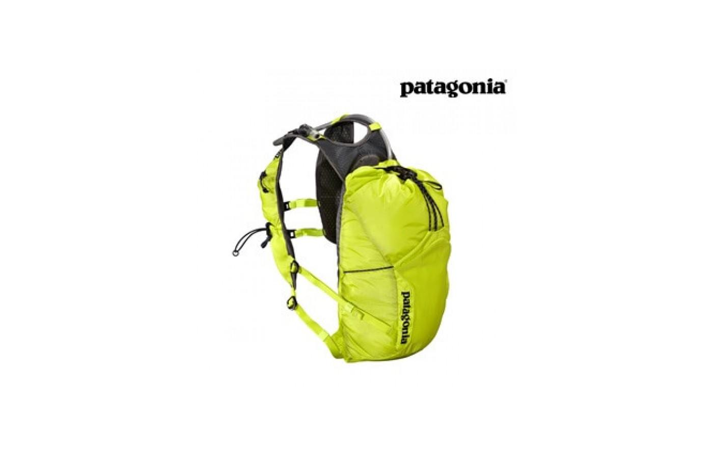 The Patagonia Fore Runner Vest 10L has a detachable drinking tube