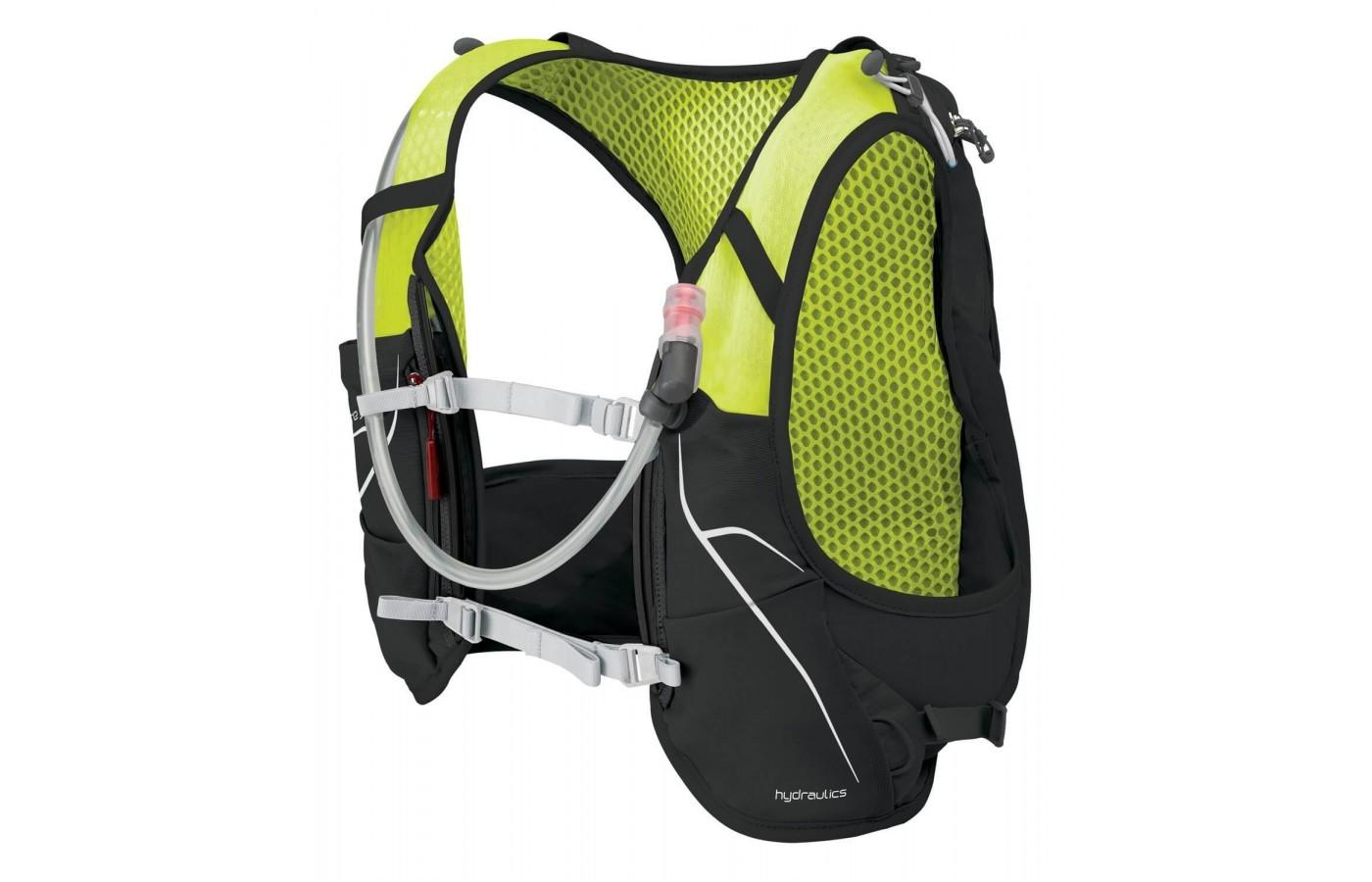 This vest comes with a 1.5 liter hydration reservoir.