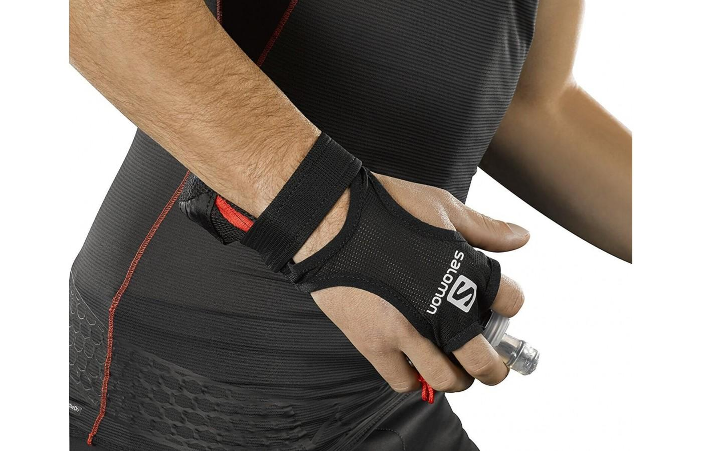This hydration system places your water or sports drink right at your finger tips