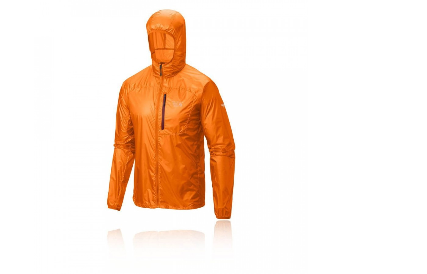 The Mountain Hardware Ghost Lite features a collapsible hood for rainy weather.