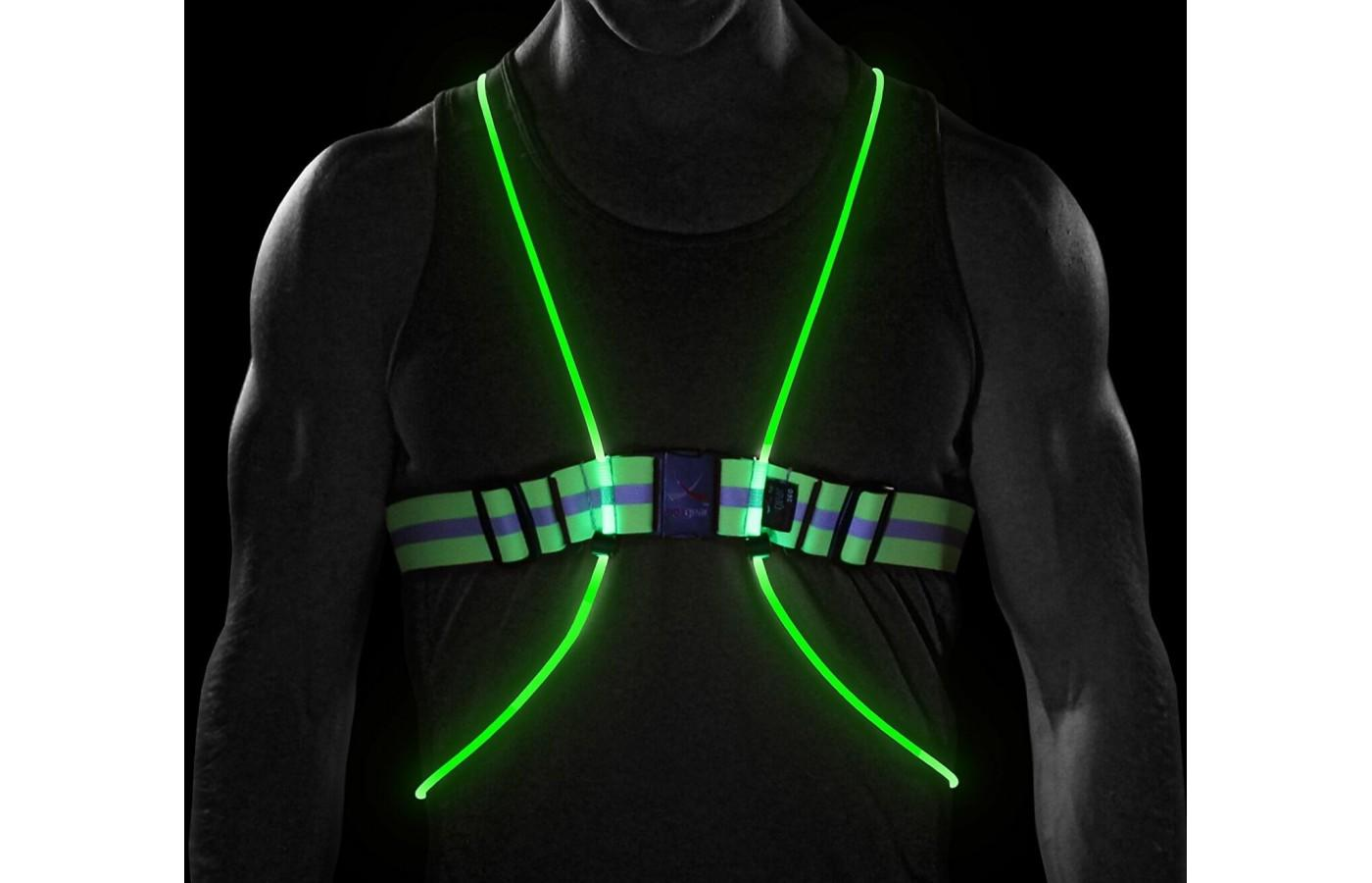 The vest is powered by 2 CREE LED bulbs that are electricity and heat free.