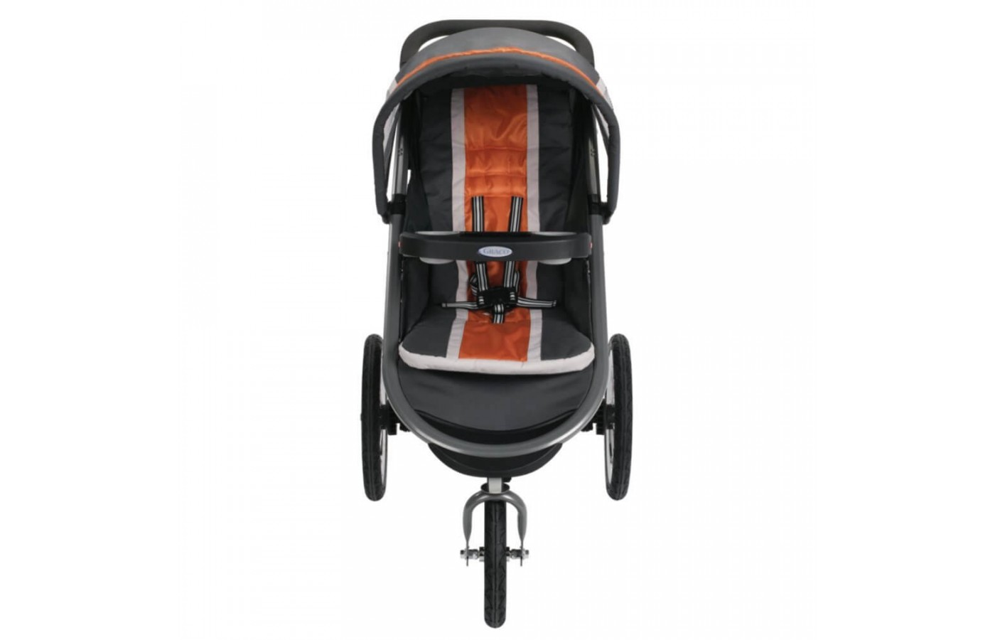 This stroller comes in two colors: Tangerine and Pierce