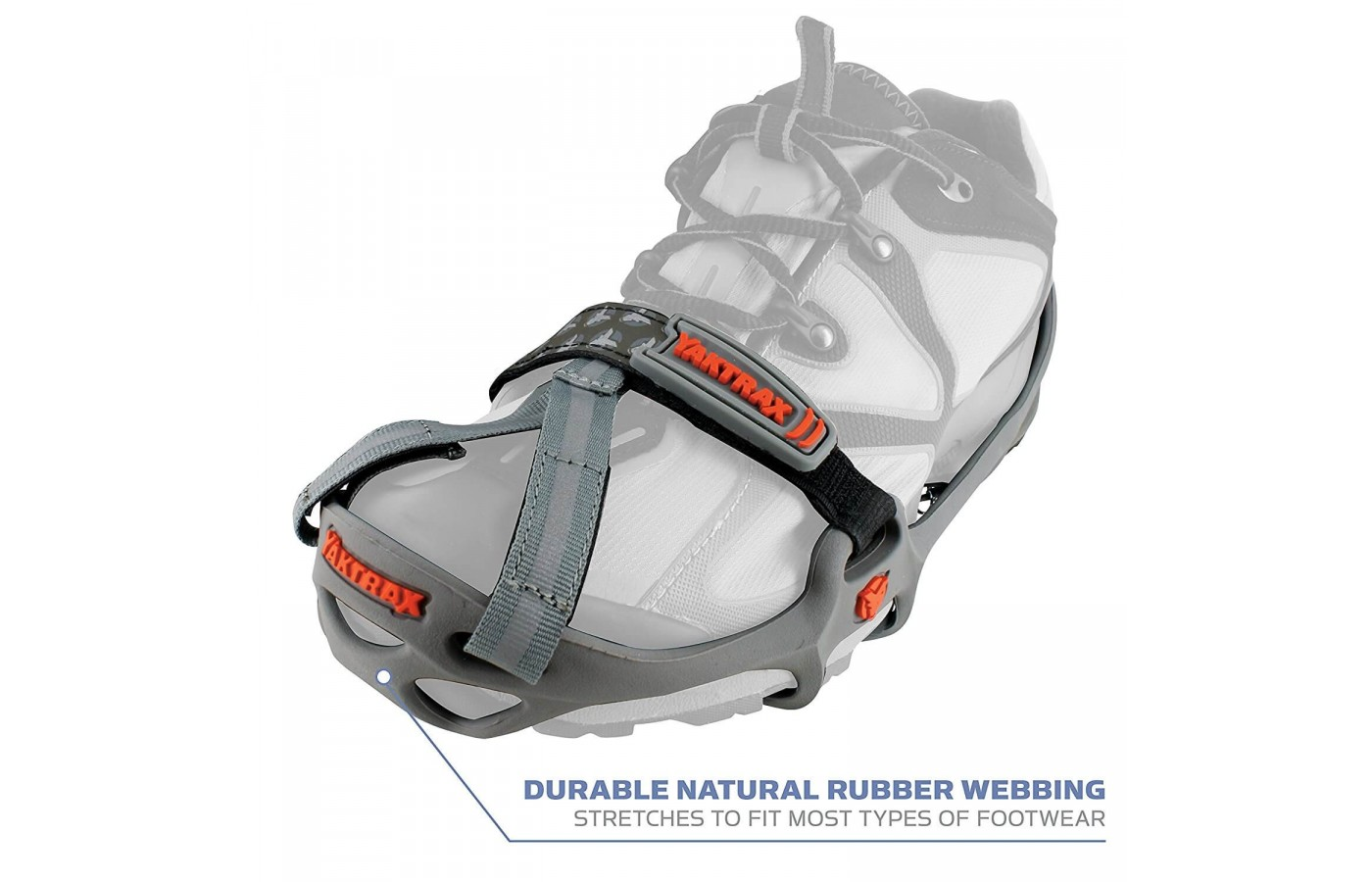 The Yaktrax Run fits snuggly over the shoe and works to keep the runner upright and safe