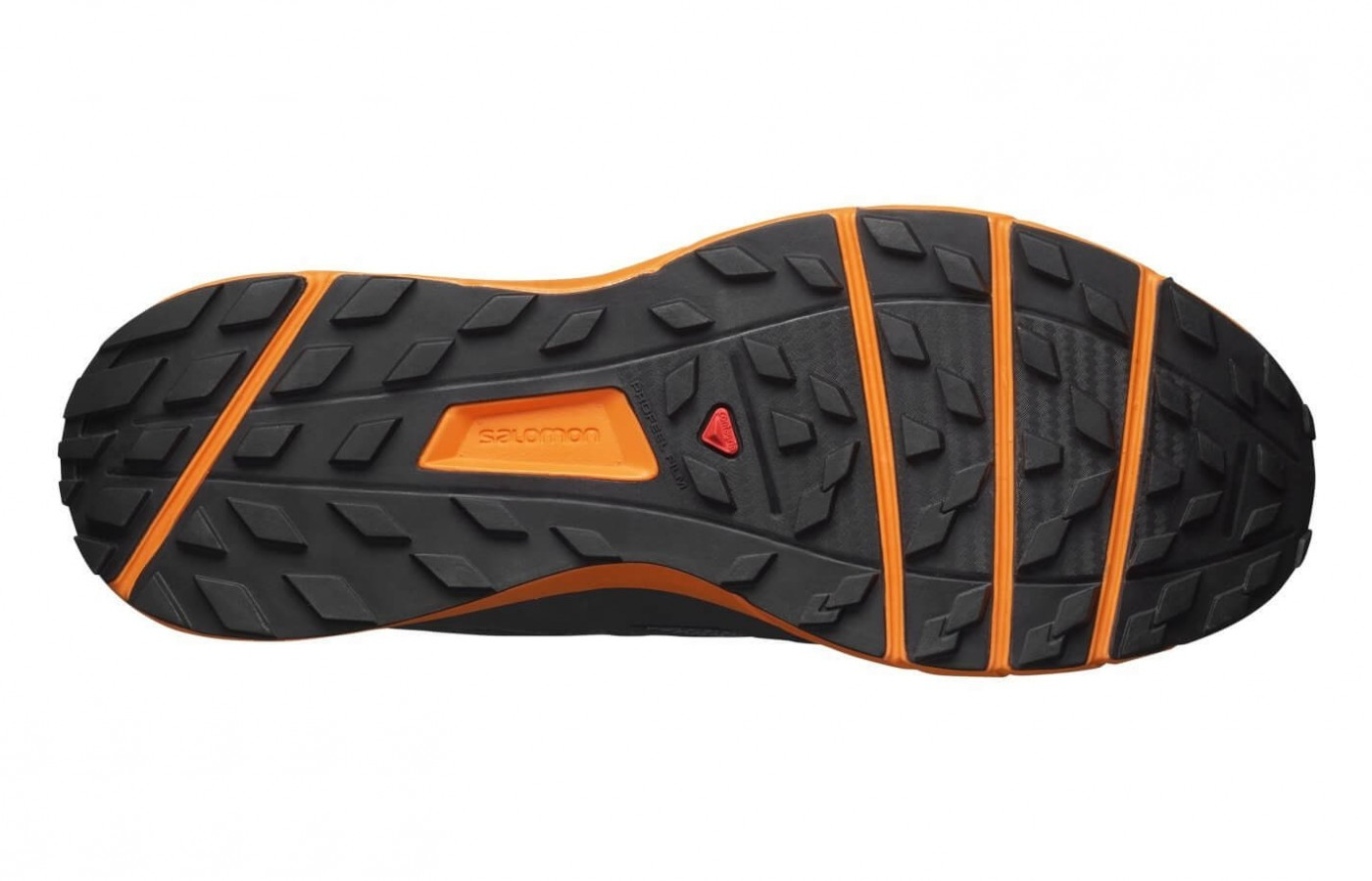 This lugged outsole grips onto any surface.