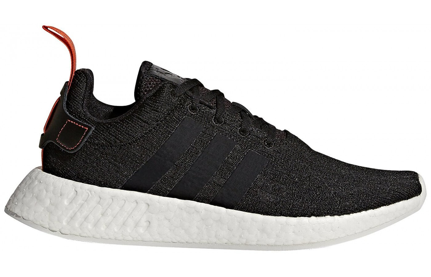 The Adidas NMD R2 features a Boost midsole