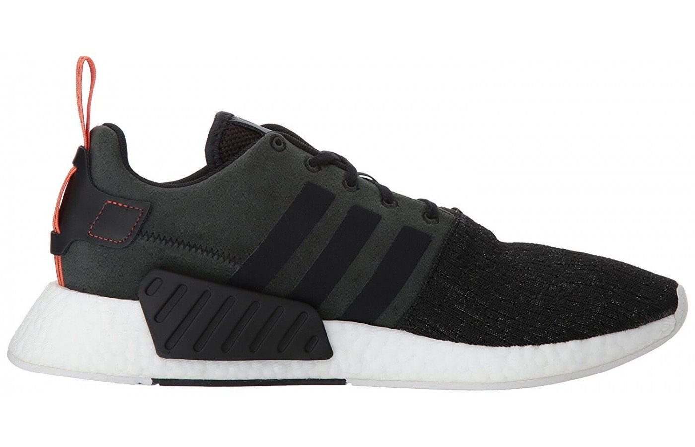 The Adidas NMD R2 features a Primeknit upper