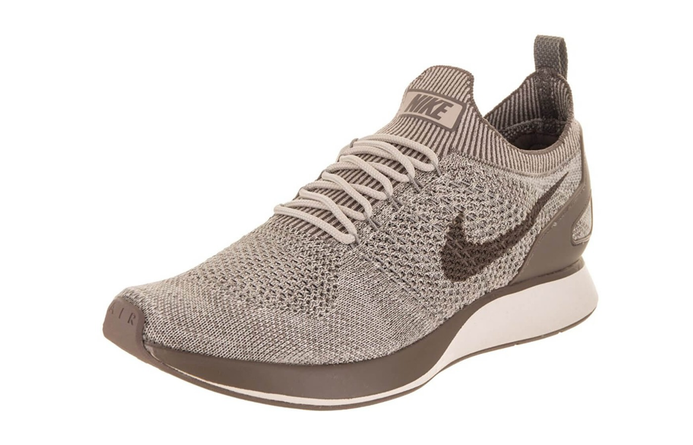 The Nike Air Zoom Mariah Flyknit Racer features a breathable Flyknit upper