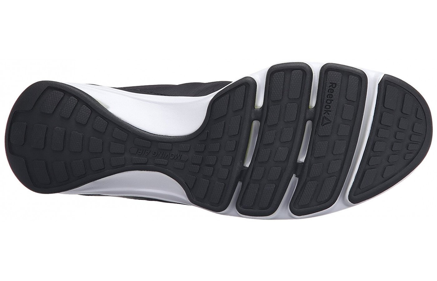 The Reebok Cloudride DMX has a rubber outsole