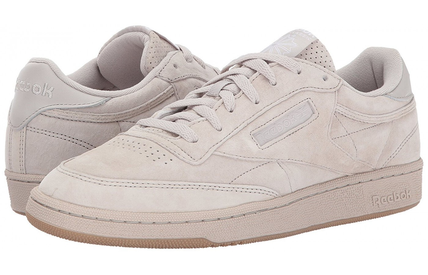 The Reebok Club C 85 has a leather upper