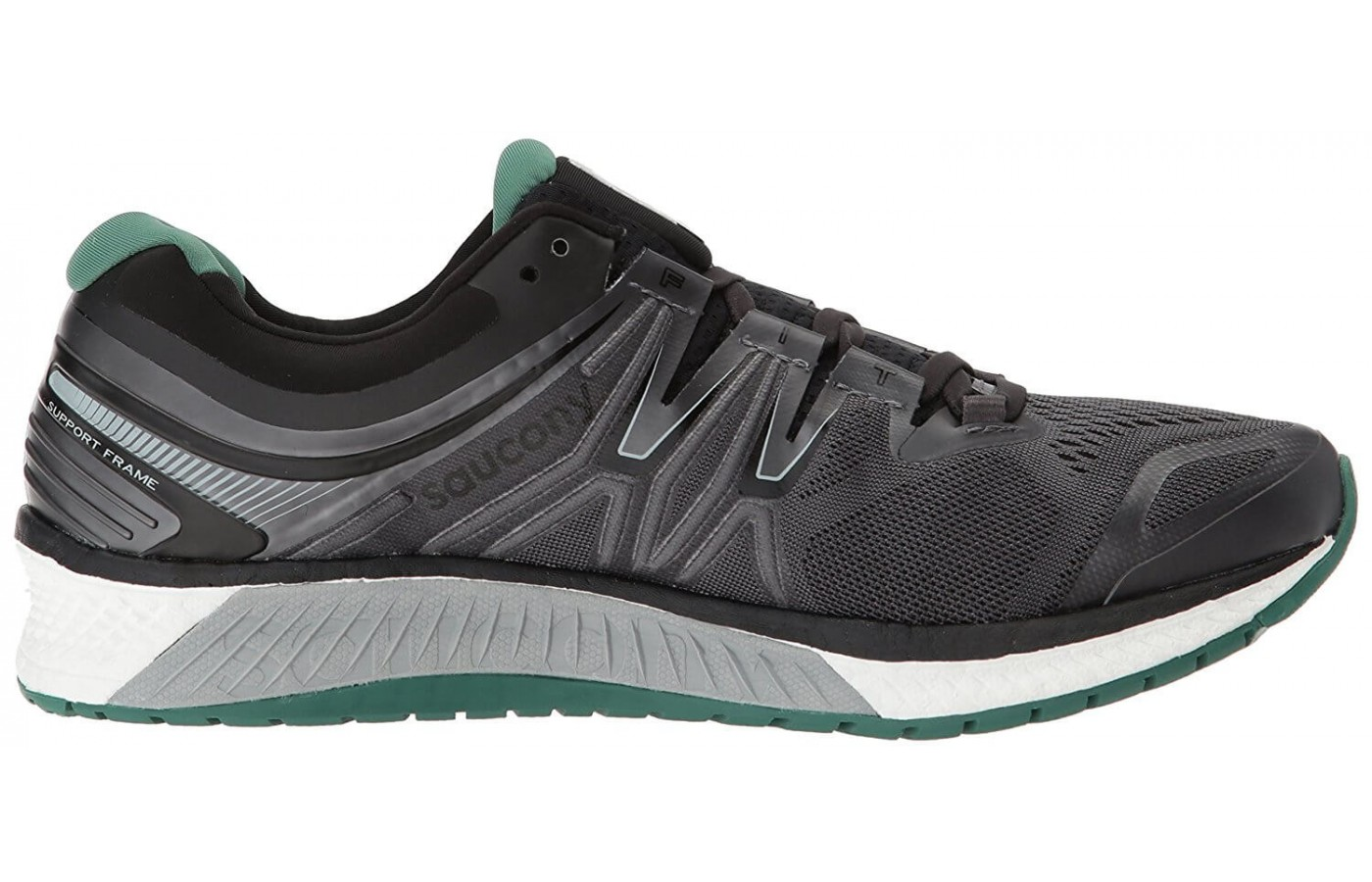 The Saucony Hurricane ISO 4 features full-length EVERUN cushioning