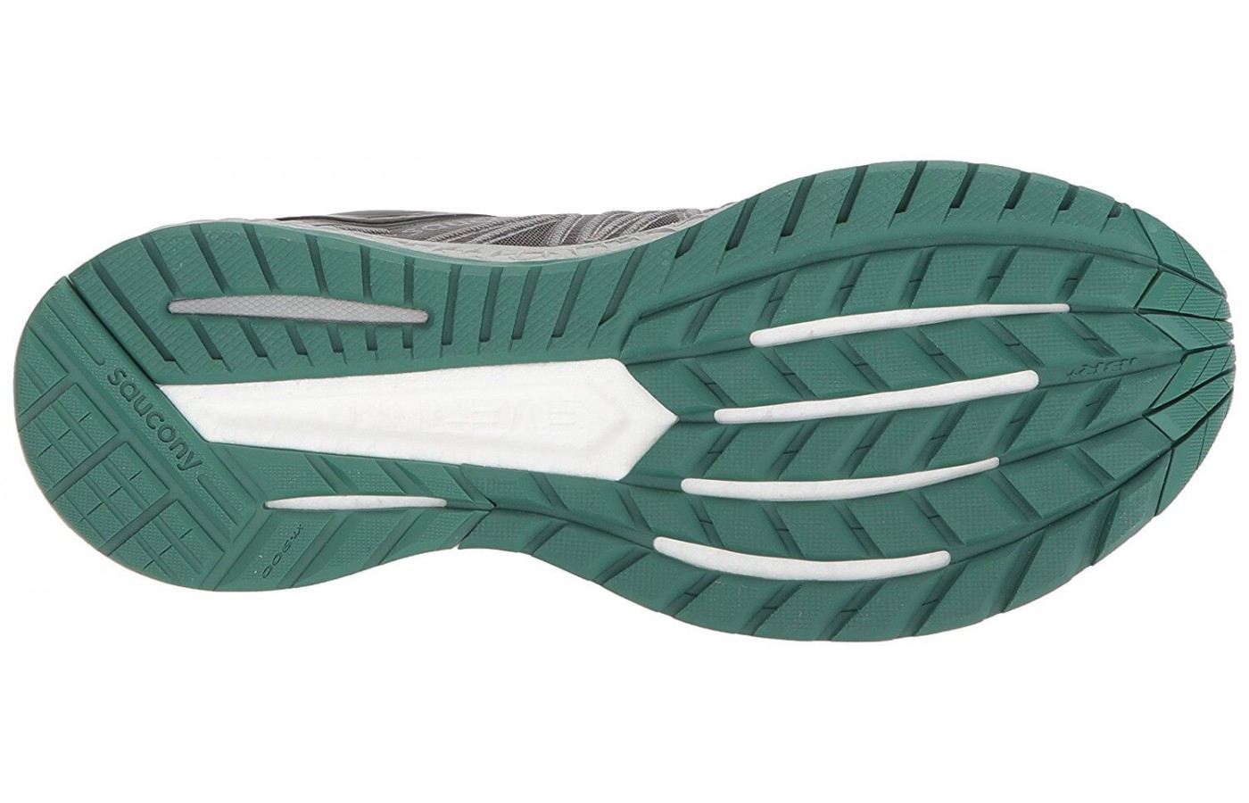 The Saucony Hurricane ISO 4's outsole features TRI-FLEX technology