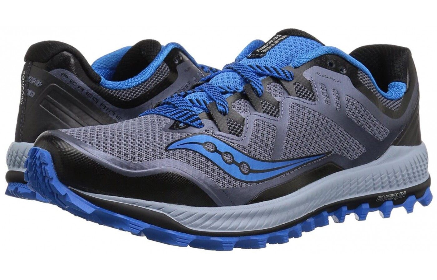 The Saucony Peregrine 8 has an attached tongue to keep out dirt and debris