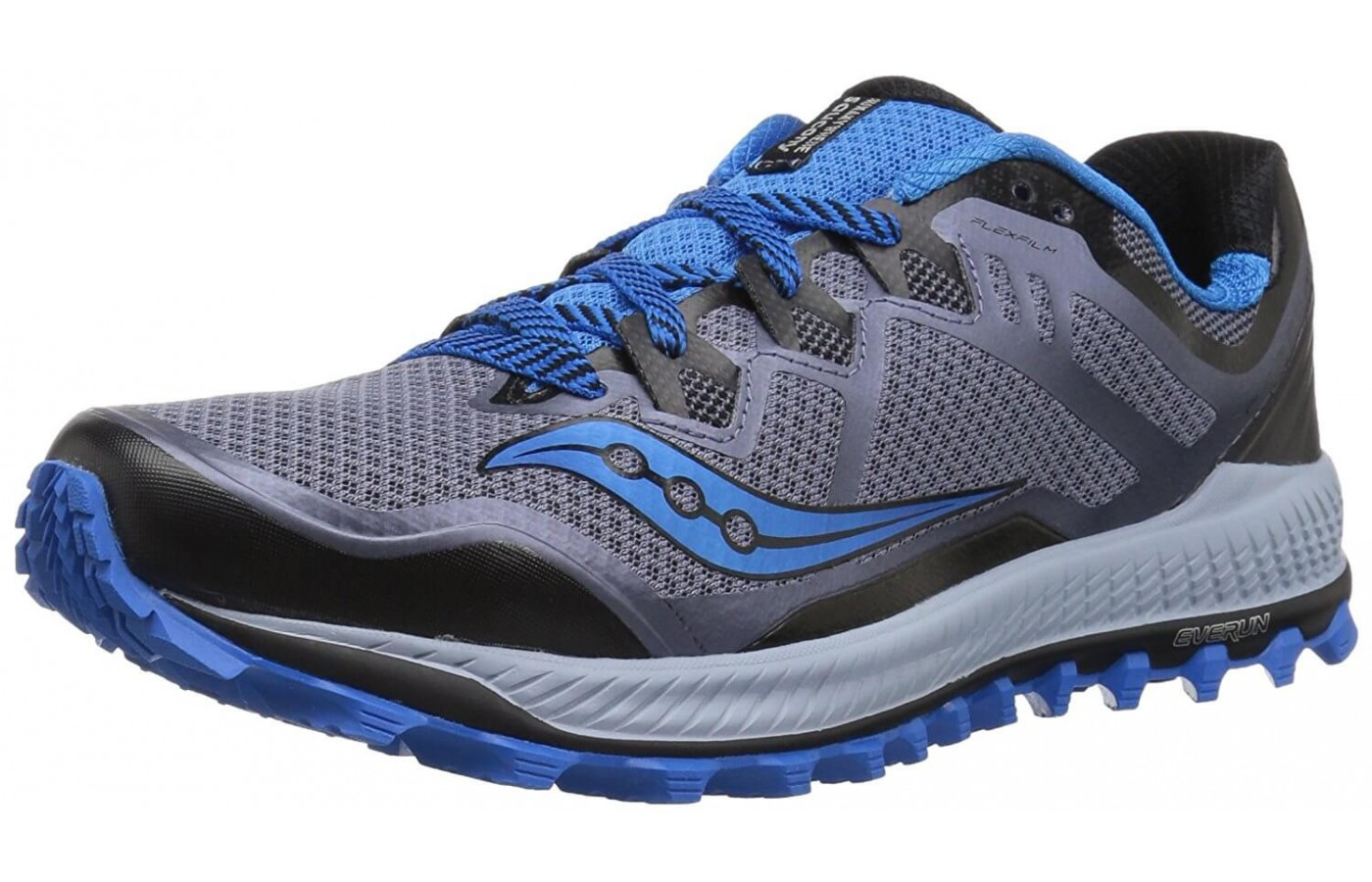 The Saucony Peregrine 8 features EVERUN cushioning