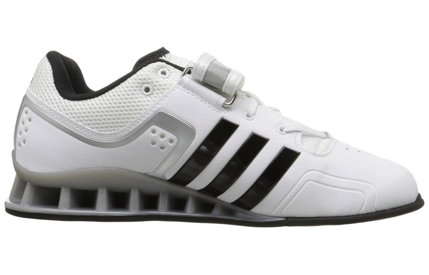 Adidas utilizes a weightlifting specific chassis in their design.
