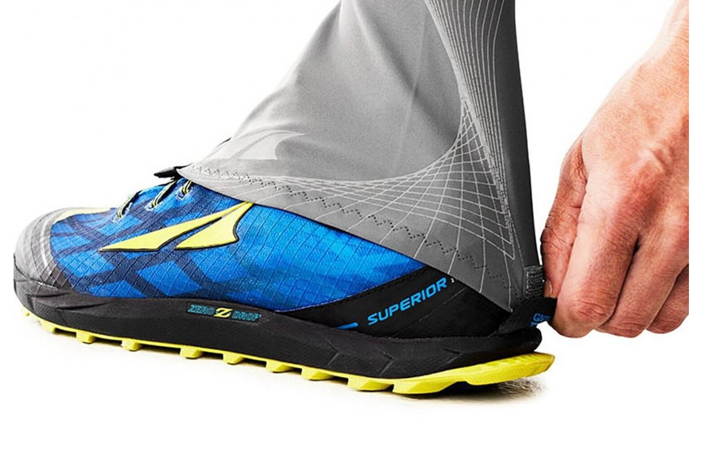 These gaiters are uniquely designed to attach to any Altra trail shoe.