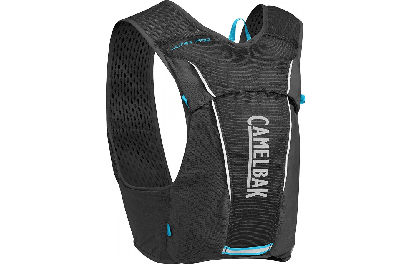 This hydration pack comes with 9 pockets to carry all of your race day essentials.