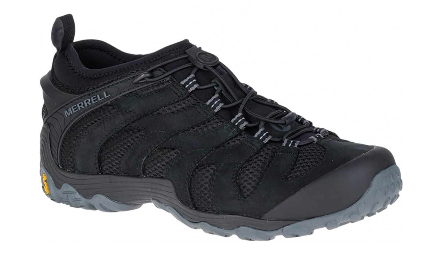 This shoe is offered in two rugged colors, black and brown.