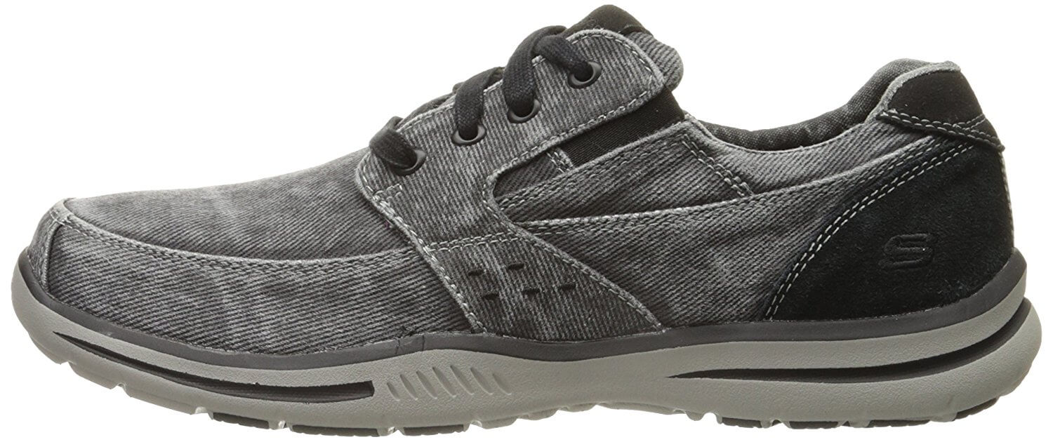 11.  Skechers USA Men's Elected Fultone Lace-Up Oxford Sneaker
