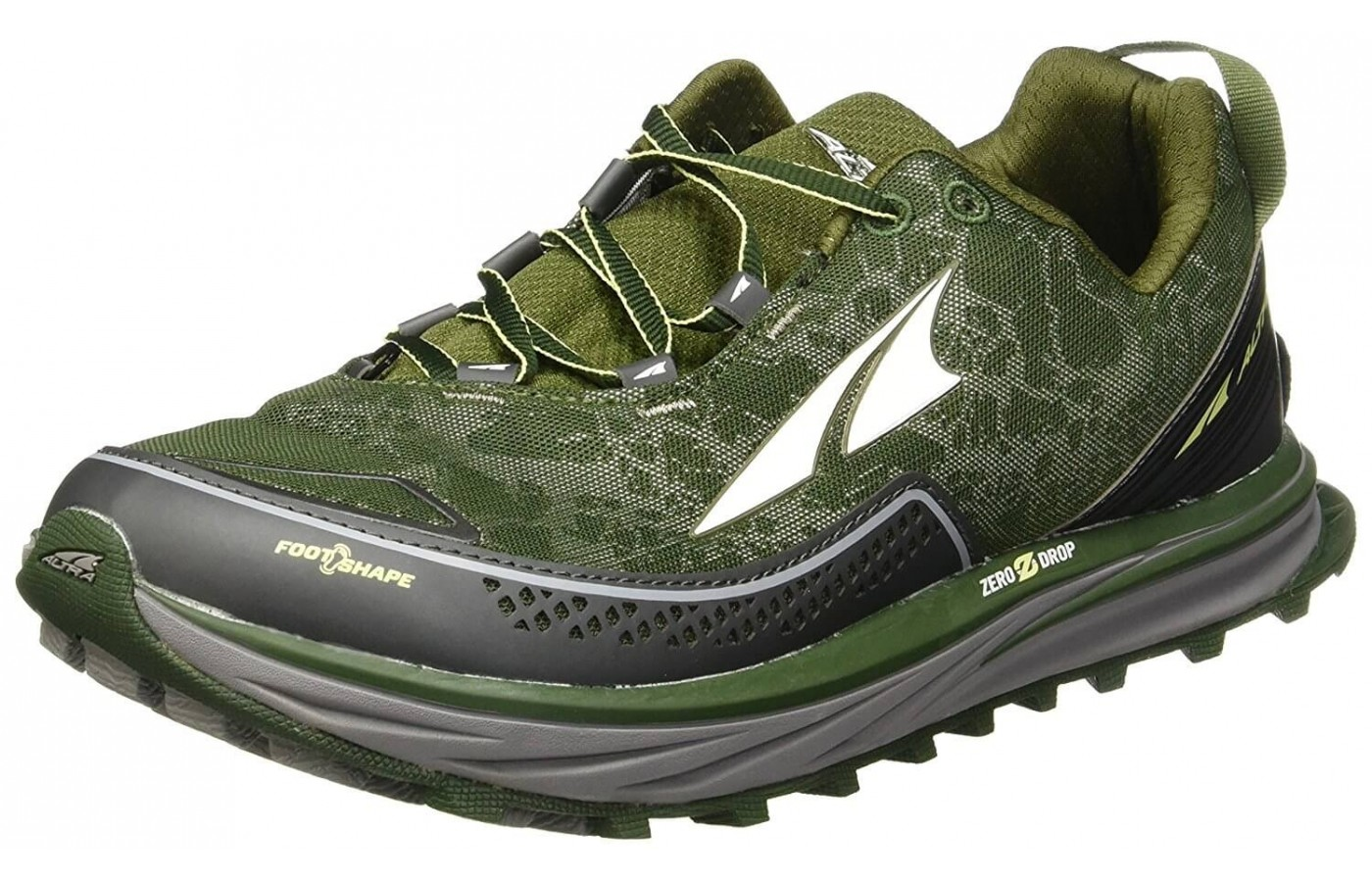 The Altra Timp is a zero drop, fully cushioned trail running shoe.
