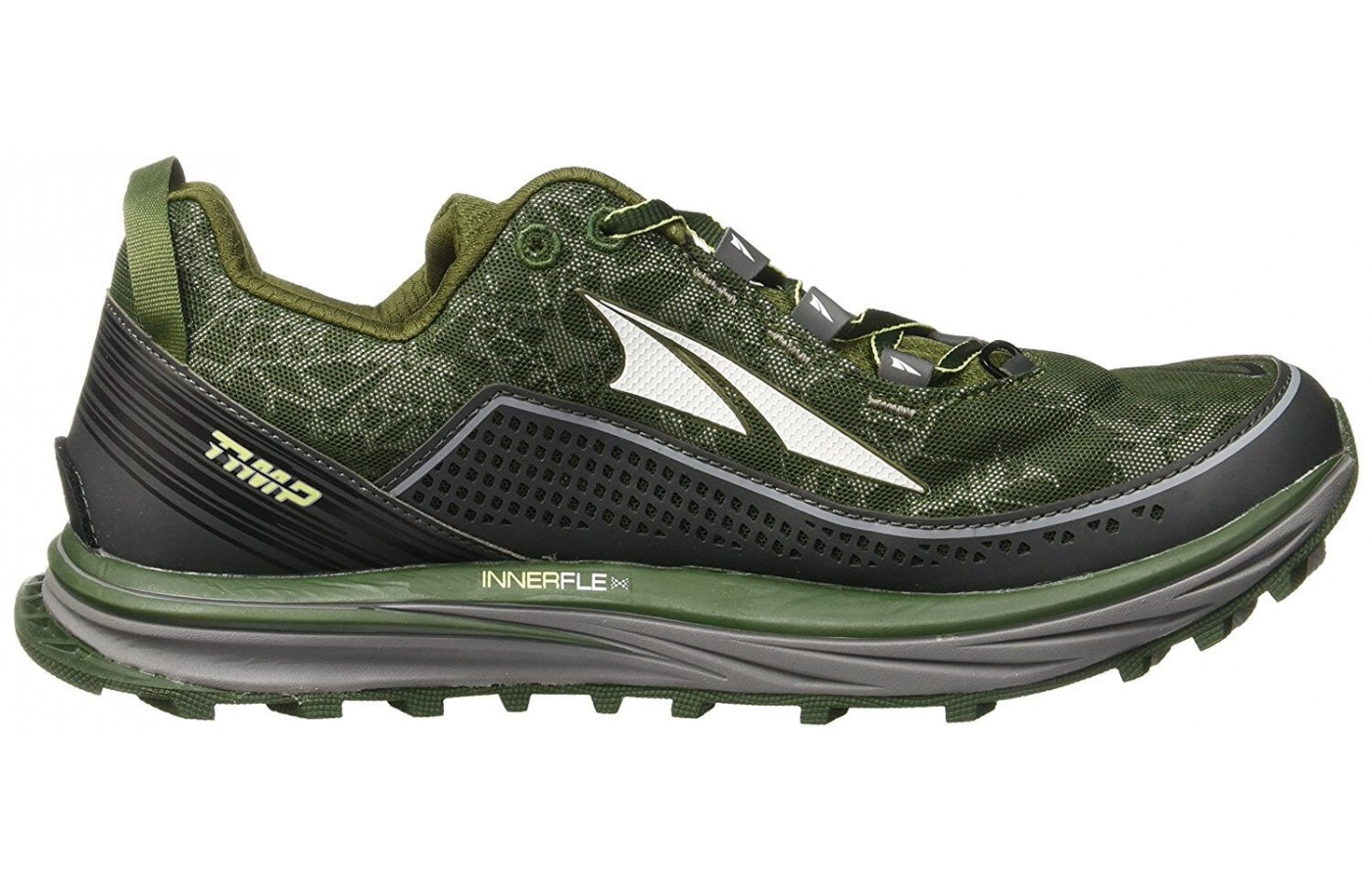 The midsole of this shoe is designed to compress less and last longer.