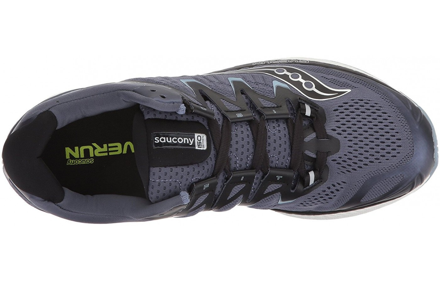 The ISOFIT upper stretches and adapts to the shape of the foot to give runners a customized running experience.