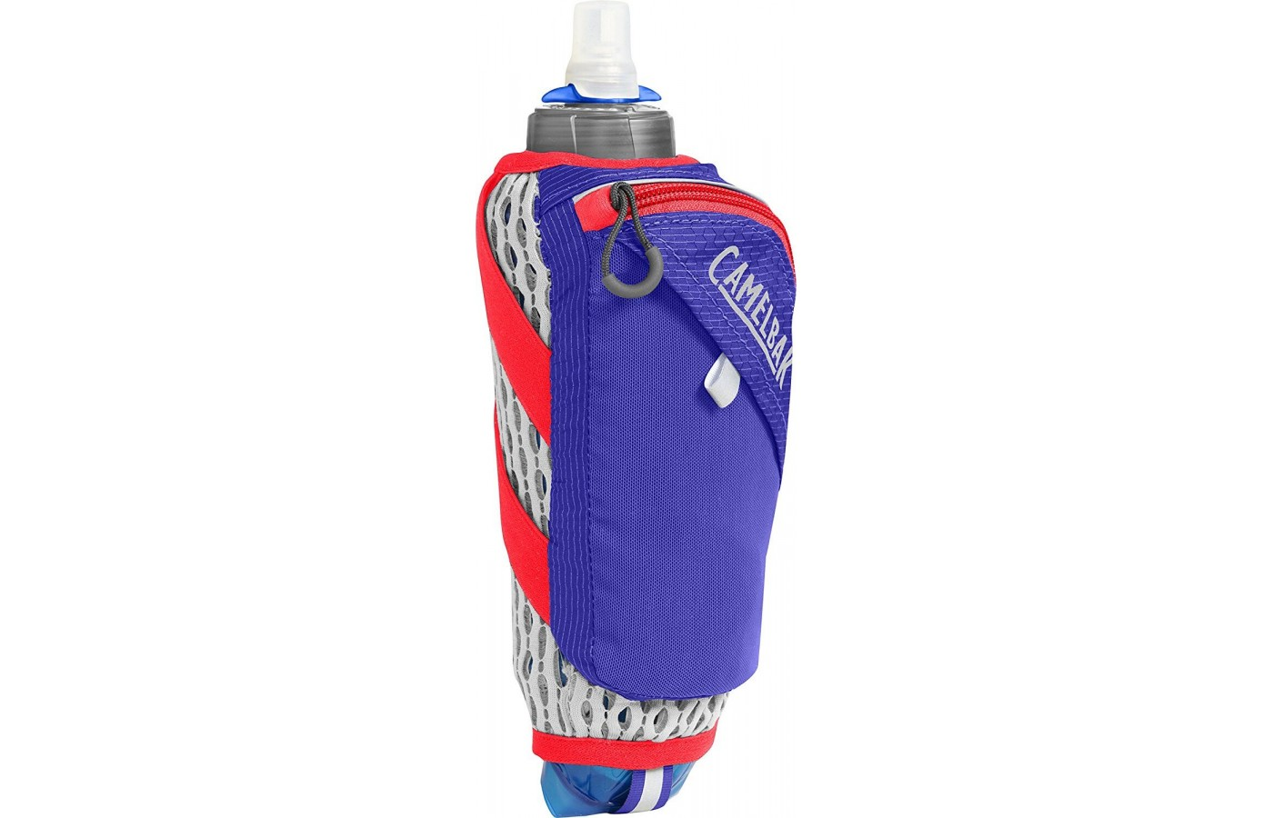 This product comes with a 17 ounce soft flask that is designed to compress and keep liquid 2x colder.