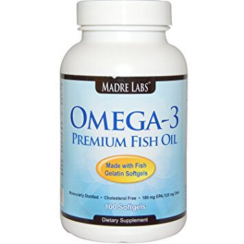 Madre Labs Omega 3 fish oil capsules
