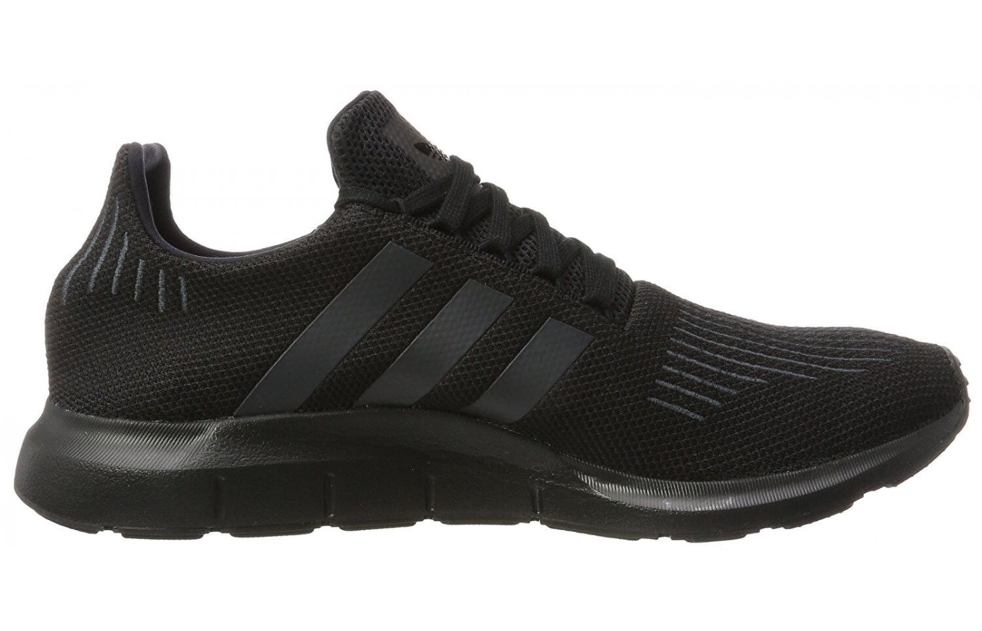 The Primeknit used for the Adidas Swiftrun Primeknit upper is lightweight and highly breathable.