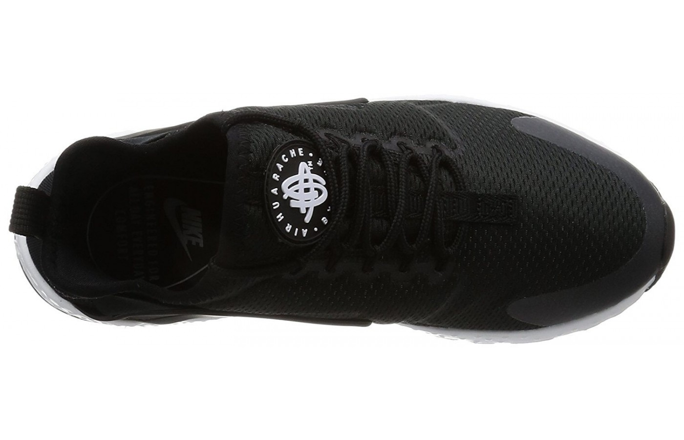 The upper portion of the Nike Air Huarache Ultra is made from layers of breathable mesh fabric.