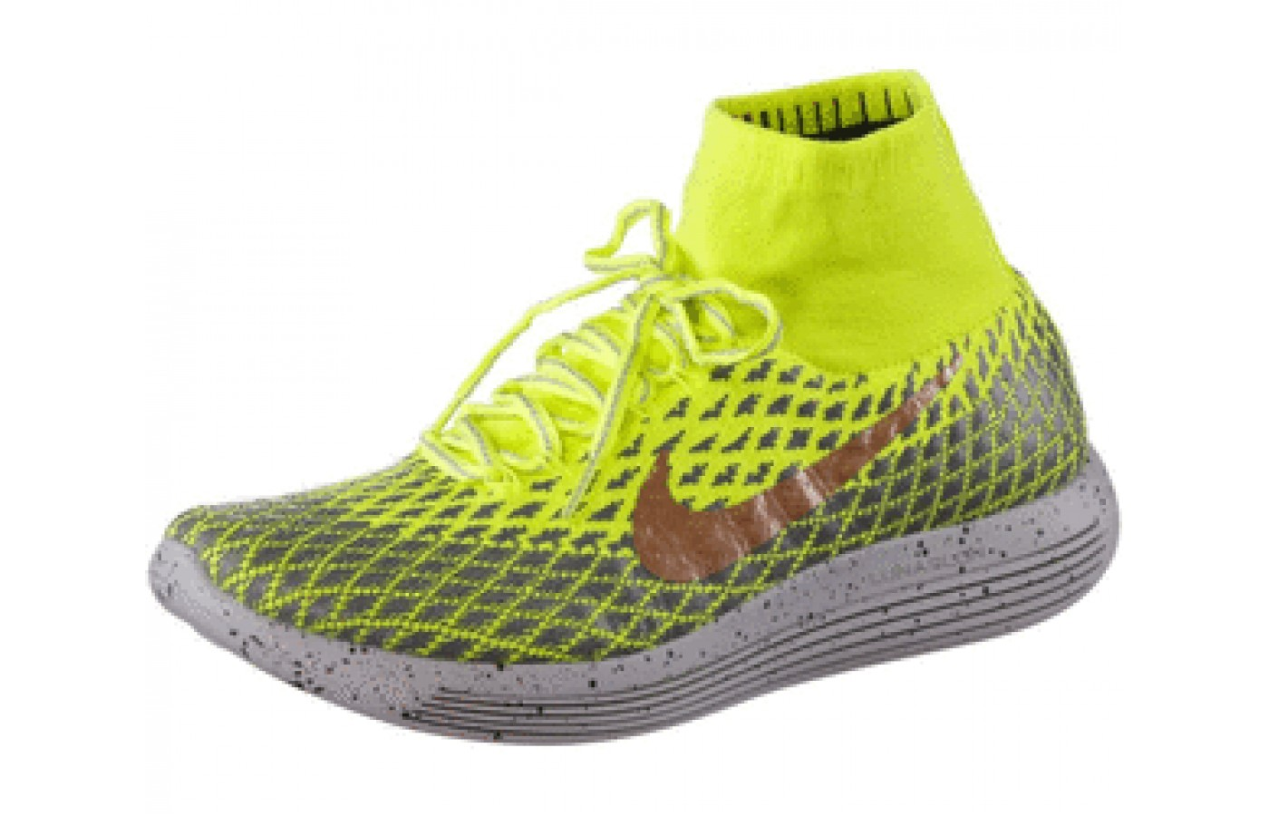 Side Angled view of the Nike LunarEpic FlyKnit Shield
