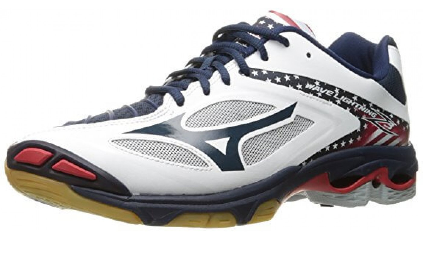 The Mizuno Wave Lightning Z3 provides stability for side to side movements