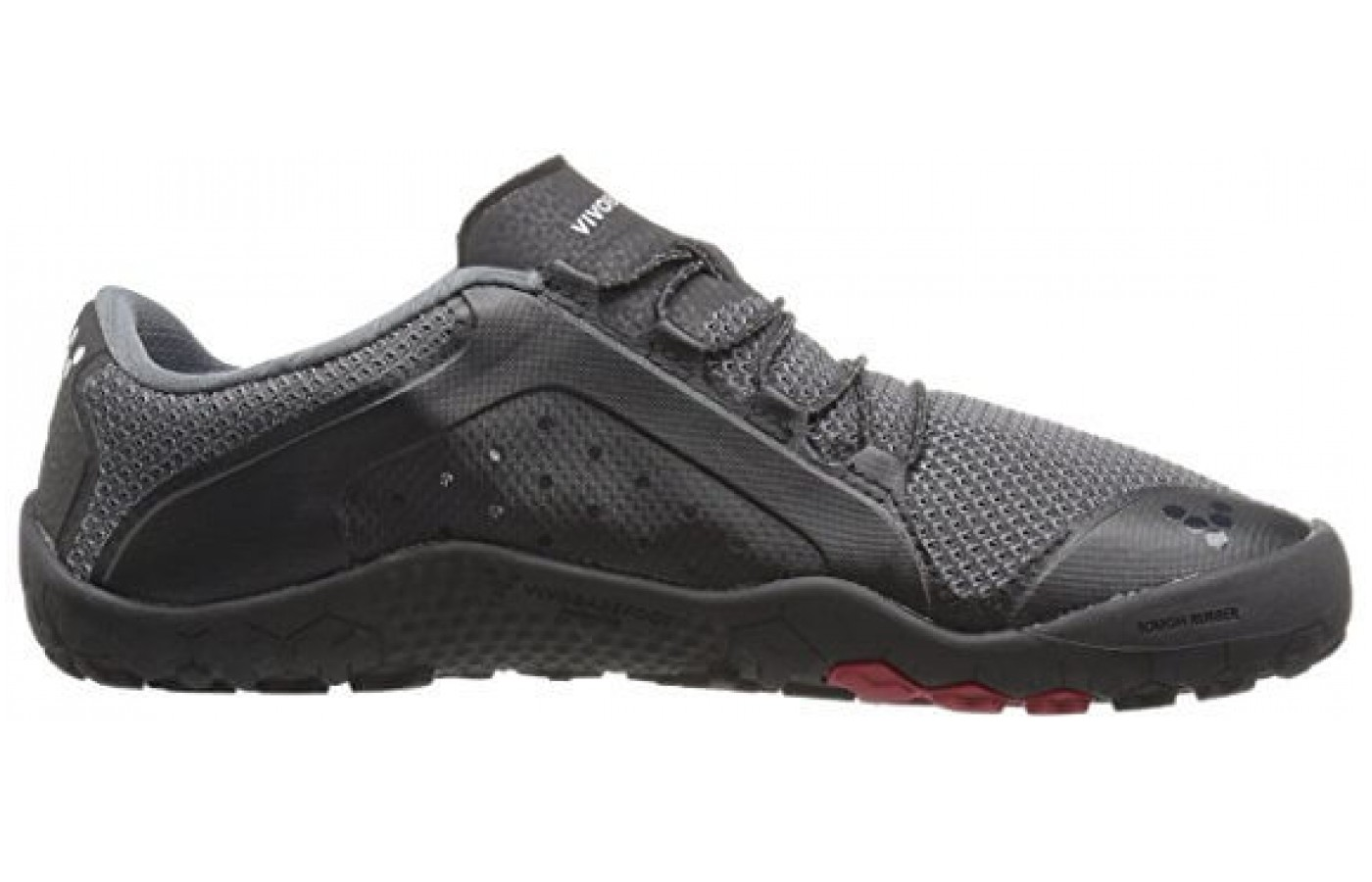 The Vivobarefoot Primus Trail FG has a mountain lace with toggle