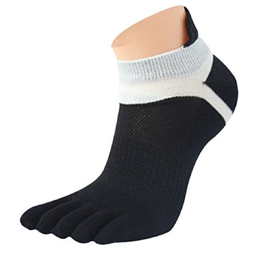 Lookatool MenMesh Meias Sports Running Five Finger Toe Socks