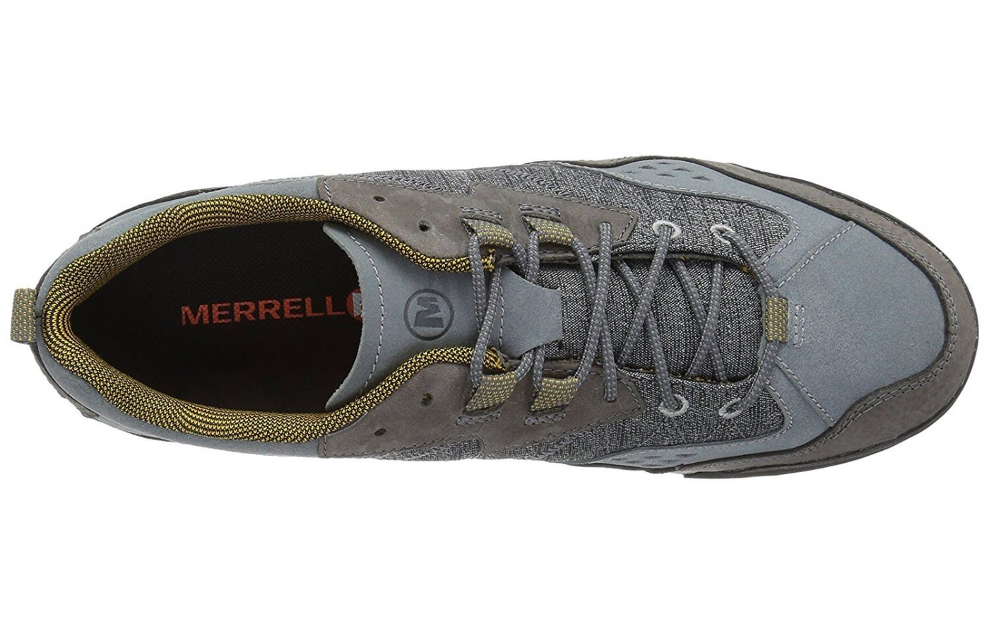 The Merrell Burnt Rock features a mesh liner for enhanced breathability