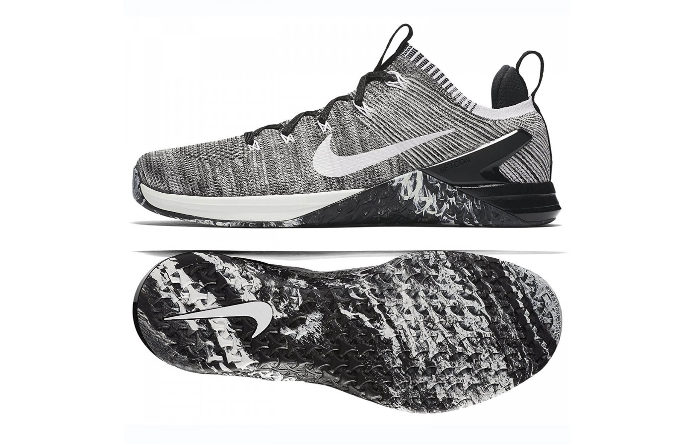 The Nike Metcon DSX Flyknit 2 has a higher drop from heel to toe compared to the original. The total drop height in this version is 6mm.