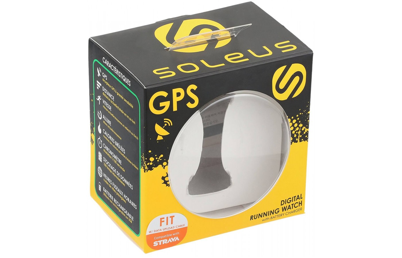 The Soleus GPS Fit 1.0 has a 30 run workout history