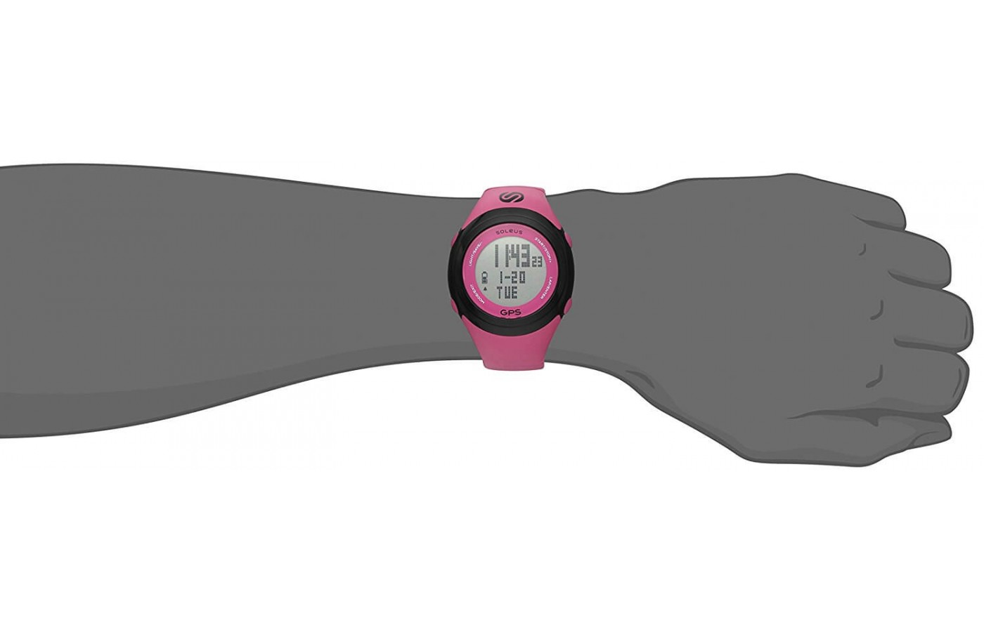 The Soleus GPS Fit 1.0 has a backlight